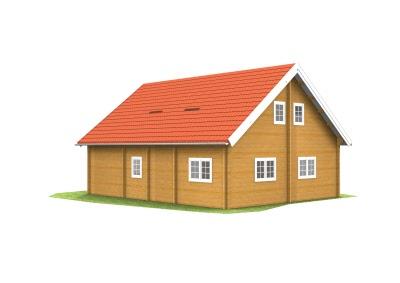 Wohnhaus aus Holz, Blockbohlenhaus